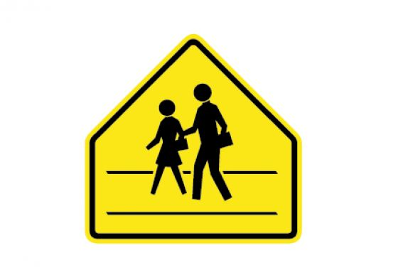 Road Sign Cross Walk