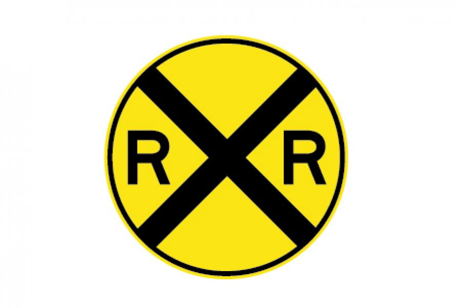 Road Sign Railroad Crossing