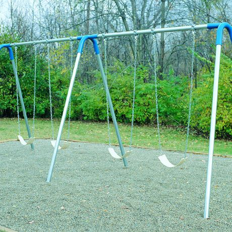 Bipod Swing- Double Bay with Strap Seats