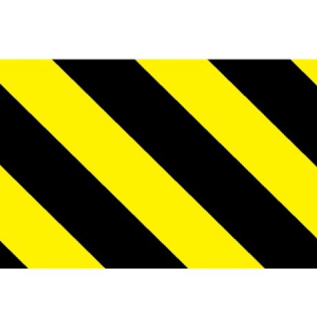 Hazard Barrier Sign